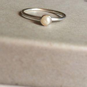Silpada.925 Sterling & Pearl June Birthstone Ring